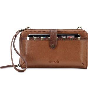 The Sak Smartphone Leather Crossbody Wallet, NWOT